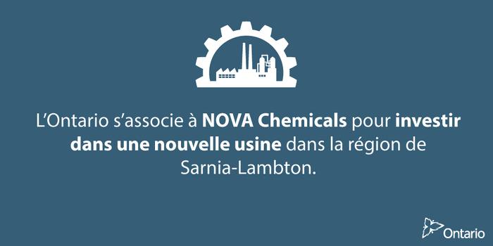 Créer de nouveaux emplois dans le secteur de la fabrication de produits chimiques de l'Ontario