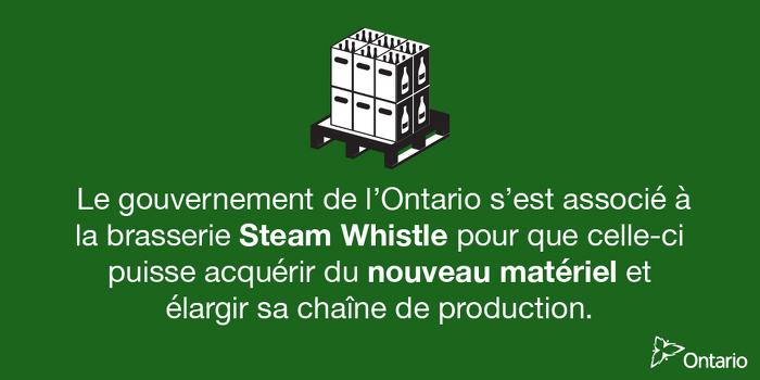 L'Ontario s'associe à Steam Whistle pour soutenir plus de 240 emplois à Toronto