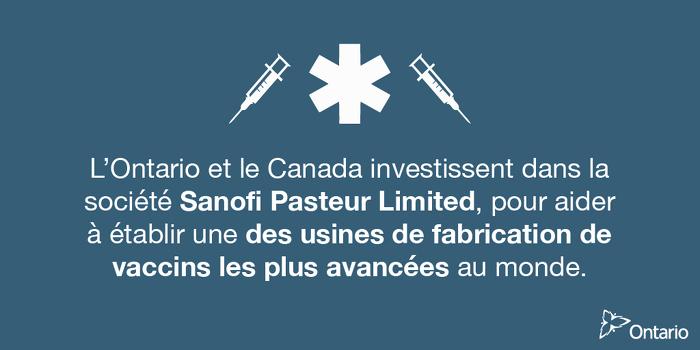 Une installation de pointe ultramoderne de vaccins fera du Canada un centre d'innovation en santé