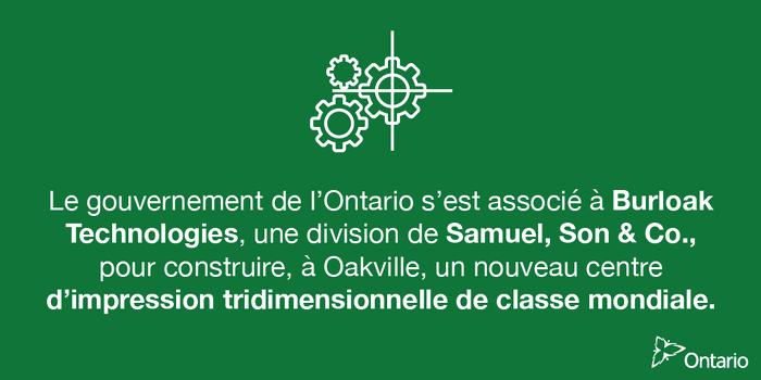 L'Ontario soutient plus de 80 emplois dans le secteur de la fabrication de pointe à Oakville
