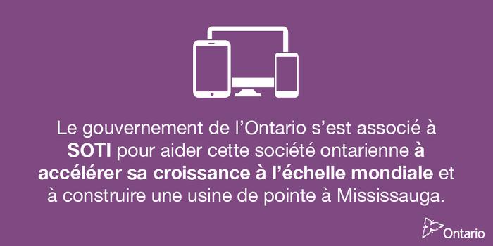 L'Ontario soutient plus de 1100 emplois à Mississauga