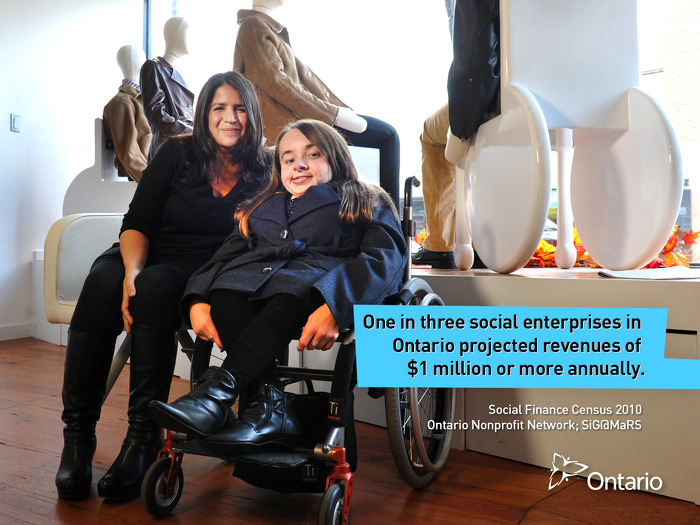 One in three social enterprises in Ontario projected revenues of $1 million or more annually.