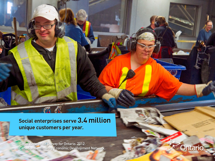Social enterprises serve 3.4 million unique customers per year.