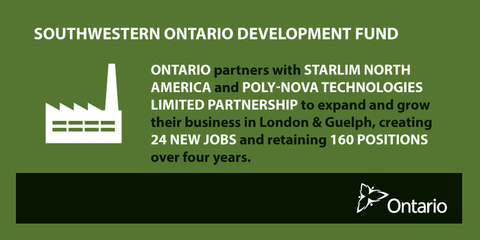Ontario Supporting New Manufacturing Jobs in London and Guelph