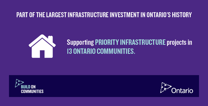 Thirteen Ontario Communities to Receive Funding for Local Infrastructure