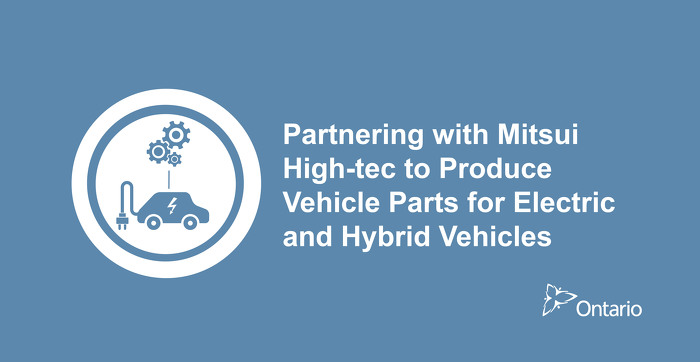 Ontario Invests in New Electric and Hybrid Vehicle Parts Manufacturing