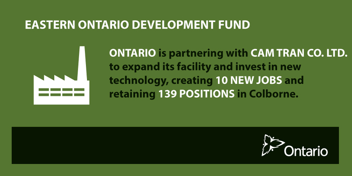 Ontario Partnering with Cam Tran to Create Jobs