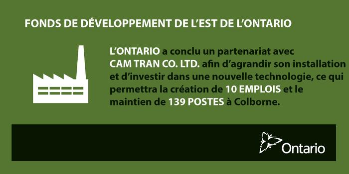 L'Ontario conclut un partenariat avec Cam Tran pour créer des emplois