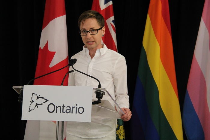 Education and training specialist Jack Hixson-Vulpe from The 519 speaks about the importance of the government's measures for the LGBTQ community.