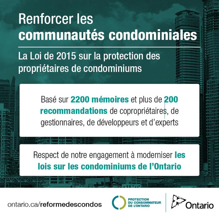 L'Ontario augmente les protections pour les propriétaires de condominiums