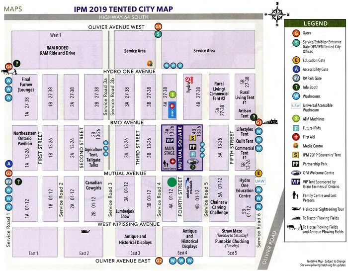 IPM 2019 Tented City Map