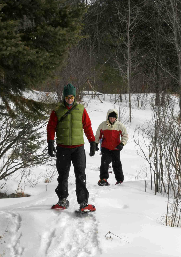 Taking a winter stroll in Arrowhead Provincial Park