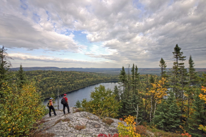 Hiking in Mississagi Provincial Park