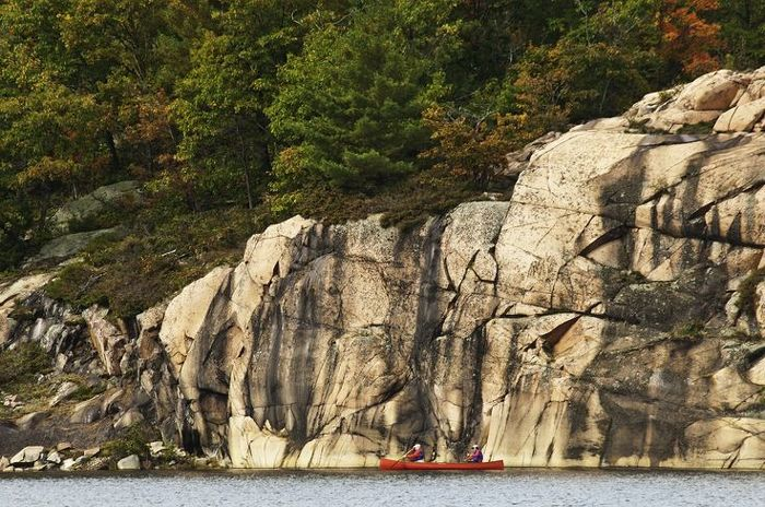 Enjoy the pink granite cliffs on the Georgian Bay coast at Killarney Provincial Park.