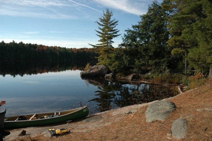 Backcountry campers can enjoy the rugged rolling landscape of Kawartha Highlands Provincial Park.