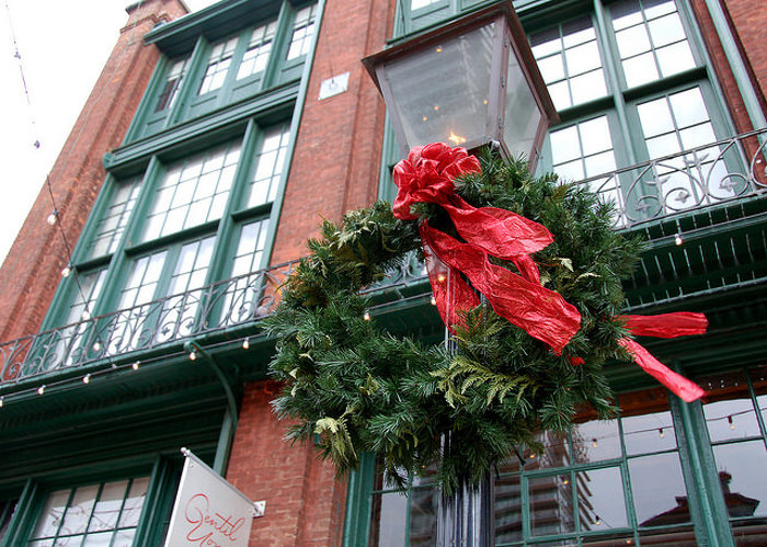 Ontario grown trees, garlands and wreaths create a Christmas wonderland, indoors and out.