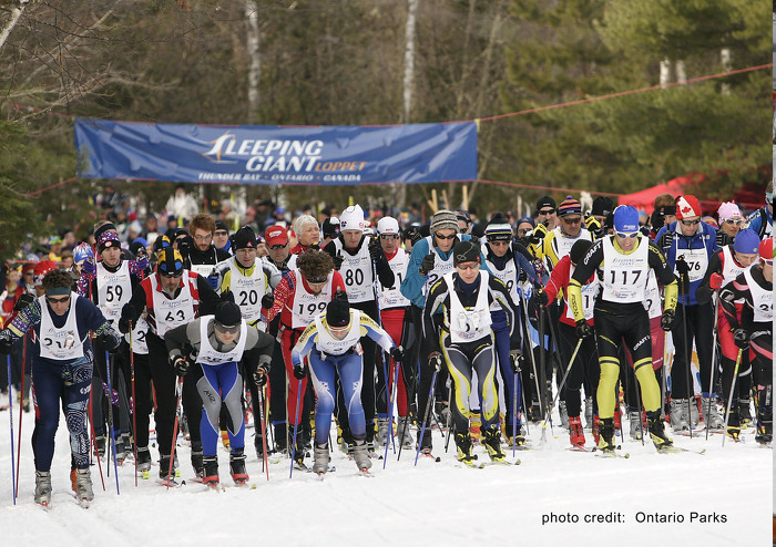 Watch, or take part in, the cross-country skiing loppet at Sleeping Giant Provincial Park.