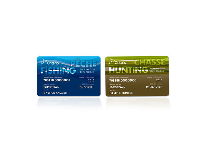 Fishing and hunting Outdoors Cards