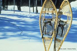 Frontenac Provincial Park is snowshoe heaven