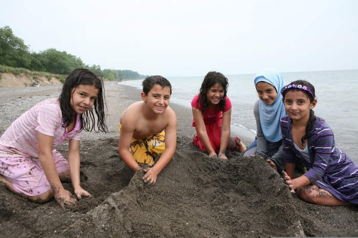 Build a better sandcastle! Research shows that spending time in nature makes people more creative.