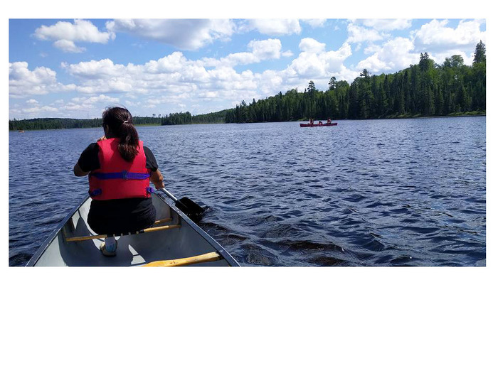 An MLFNYEP participant earns her canoeing certifications at Quetico Provincial Park.