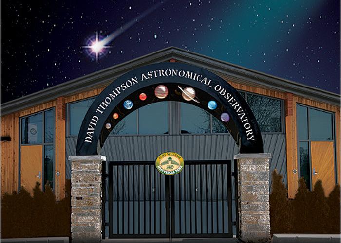 Observez l'univers avec l'un des plus gros télescopes du Centre du Canada à l'observatoire astronomique David Thompson (Photo : parc historique Fort William)