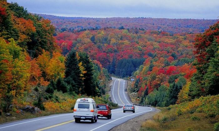Le parc provincial Algonquin est un des endroits les plus populaires pour voir les coloris d'automne.
