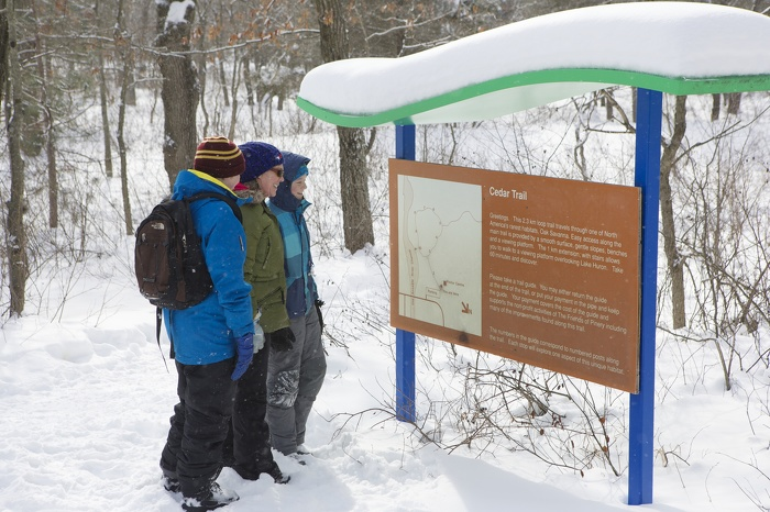 Randonnée sur une piste du Parc provincial Pinery
