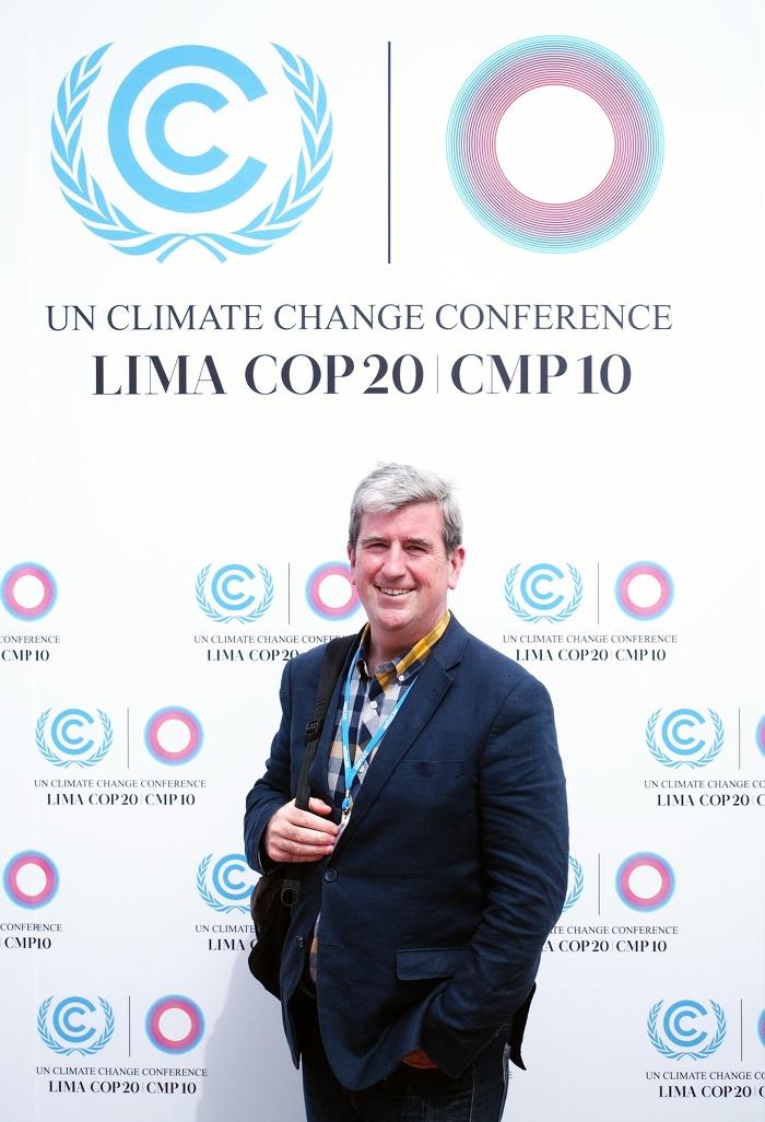 Le ministre Glen Murray, représentant l'Ontario lors de la COP20 au Pérou.