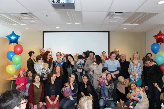 Families and staff gathered at the Ottawa Birth and Wellness Centre on Saturday to celebrate the 3rd birthday of the Ottawa Birth and Wellness Centre and the opening of the new practice group Community Midwives of Ottawa.