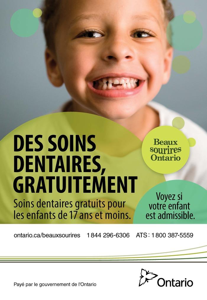 Des soins dentaires, gratuitement