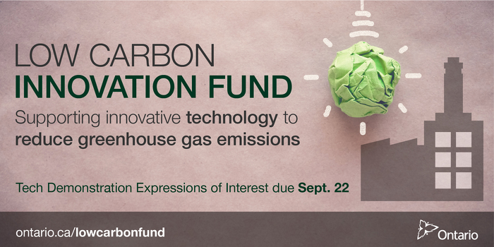 Ontario Supporting Projects to Reduce Greenhouse Gas