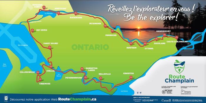 L'Ontario dévoile une nouvelle route suivant de près le voyage historique de Champlain