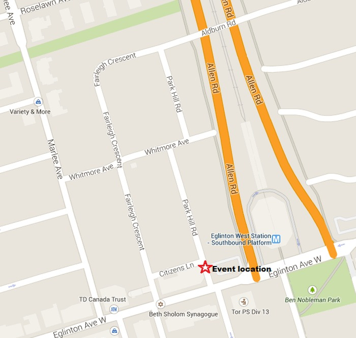 Eglinton Crosstown Event Location