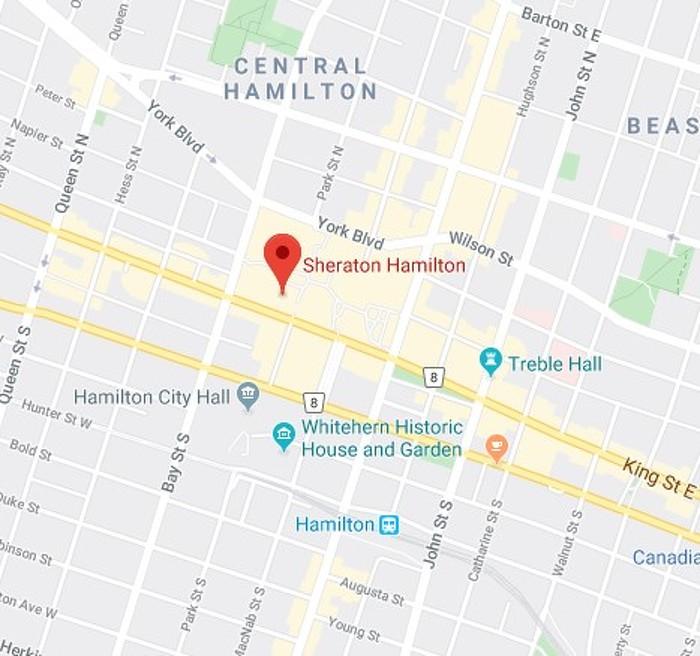 Map for Sheraton Hamilton