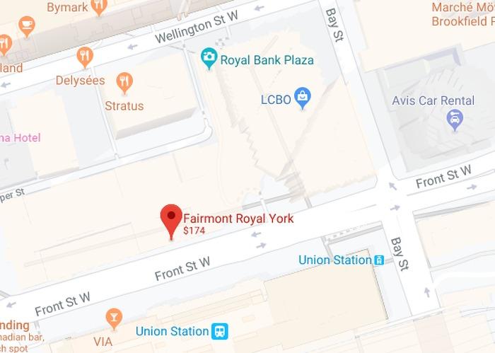 Map of Fairmont Royal York Hotel