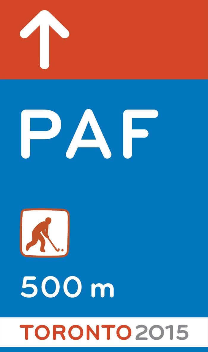 De nouveaux panneaux aideront les spectateurs à se rendre aux événements des Jeux panaméricains et parapanaméricains de 2015 à Toronto