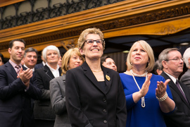A Year of Progress for Ontario Image: Premier Kathleen Wynne and her Cabinet Ministers
