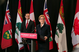 Image: Premier Wynne meets with Premier Ghiz and follows with a media availability at Queens Park.