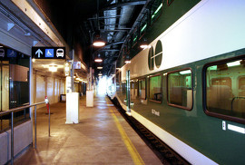 Full-Day, Two-Way GO Train Service Between Waterloo Region and the Greater Toronto Area Image: GO Train at train platform