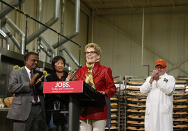 Creating Jobs for Today and for Tomorrow Image: Premier Wynne visits the Stonemill Bakehouse in Scarborough