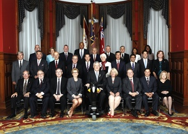 Building Ontario Up: A Strong Team for a More Secure Future Image: Group photo of Premier Kathleen Wynne and her Cabinet Ministers