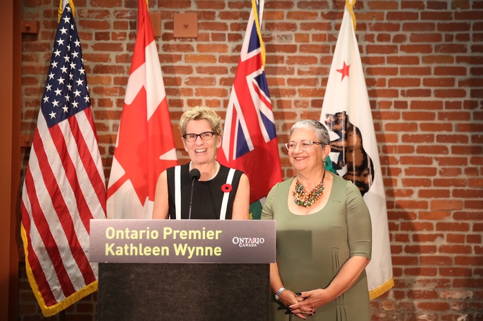 Premier Wynne Concludes Successful Mission to California