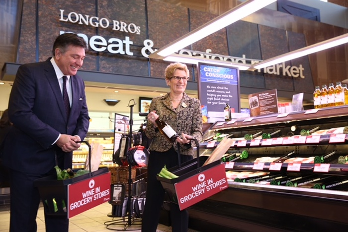 Wine Coming to Grocery Stores Across Ontario
