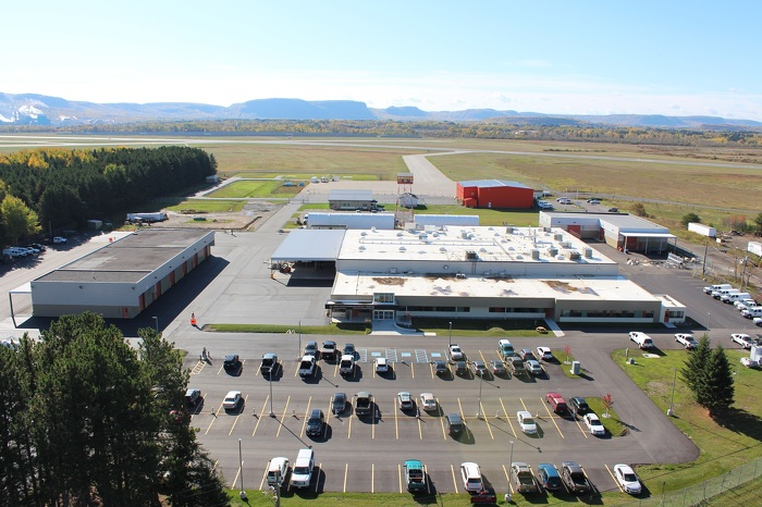 Photo of the Thunder Bay Fire Management Headquarters and Provincial Logistics Centre Renovation. Project included design improvements that better utilize existing grounds and reduce safety hazards and redundant work.