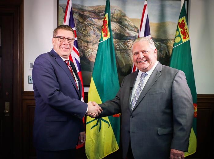 Premier Doug Ford Welcomes Saskatchewan Premier Scott Moe to Queen's Park