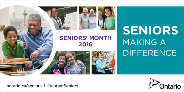 Ontario Celebrates Seniors' Month