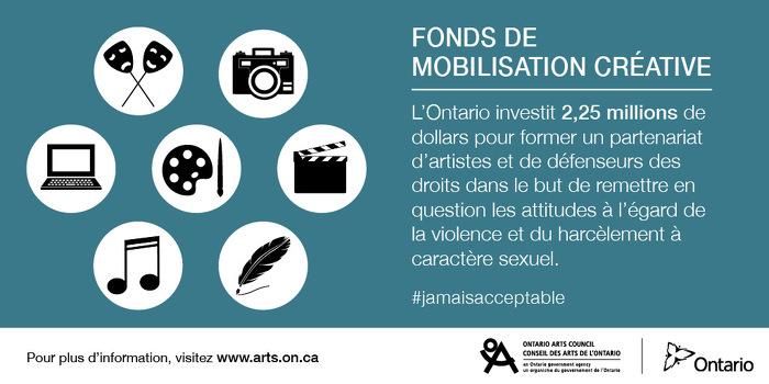 Artistes et défenseurs s'unissent pour lutter contre les attitudes sur la violence et le harcèlement à caractère sexuel