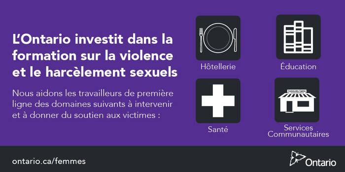 Les serveurs et barmans/barmaids recevront une formation sur la façon d'intervenir en cas de violence et de harcèlement à caractère sexuel