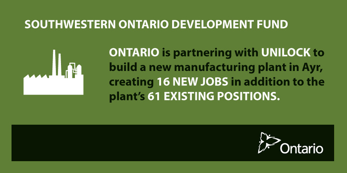 Ontario Boosting Economic Growth in Ayr